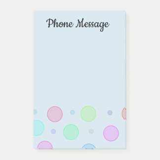 Cute Circles Custom Office Sticky Post-It Notes