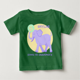 Cute Circus | Baby Monogram Going To Grandmas Baby T-Shirt