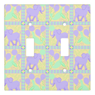 Cute Circus | Baby Nursery Pattern Fun Elephant Light Switch Cover