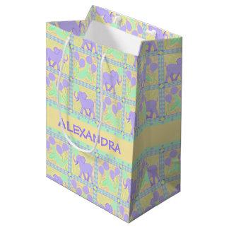 Cute Circus | Baby Shower Fun Colorful Pattern Medium Gift Bag