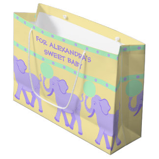 Cute Circus | Baby Shower Sweet Baby Boy Or Girl Large Gift Bag