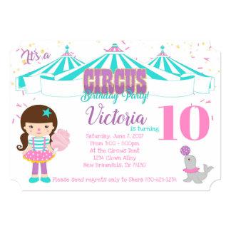 Cute Circus Invitation