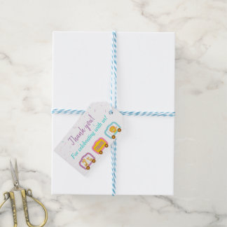 Cute Circus Thank You Gift Tags