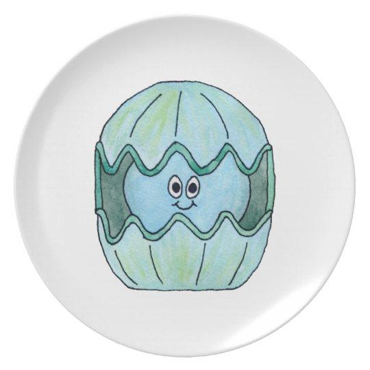 Cute Clam. Plate