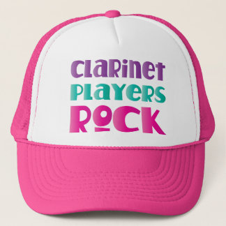 Cute Clarinet Players Rock Music Gift Trucker Hat