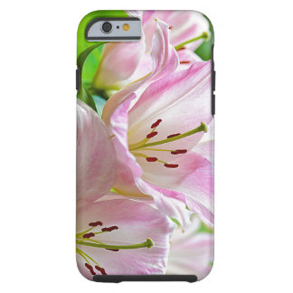 Cute Classic Pretty Pastel Pink White Flowers Tough iPhone 6 Case