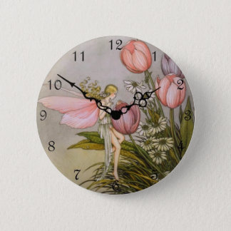 """Cute Clock Style Kid Button - 'Tooth Fairy"""""""