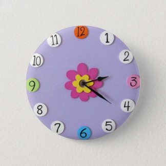 "Cute Clock Style Kids Buttons - ""Daisy"""