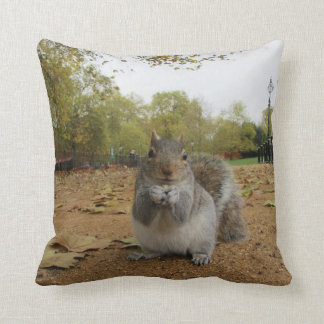 Cute Close-Up Squirrel Throw Cushion