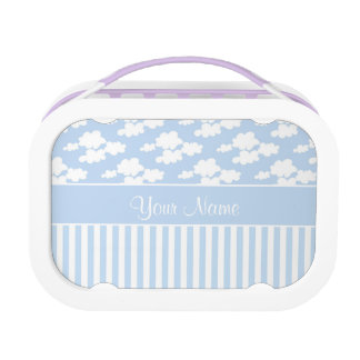 Cute Clouds and Stripes Lunchboxes