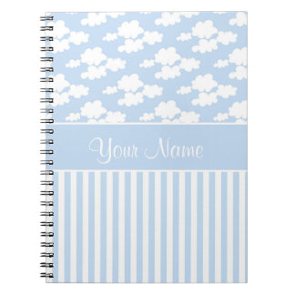 Cute Clouds and Stripes Notebooks