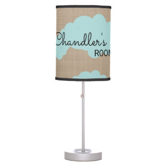 Cute Cloud's Blue and Brown Nursery Table Lamp