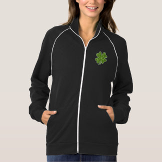 Cute Clover Irish Glitter Green Jacket