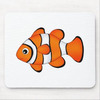 cute clown fish mouse pad