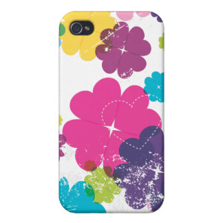 Cute cmyk grunge flower iphone case iPhone 4/4S case