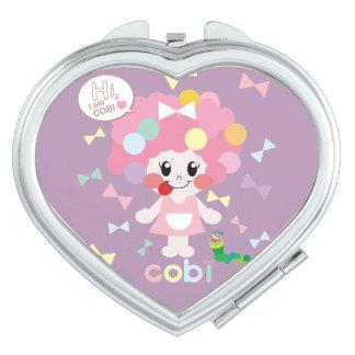 cute cobi-chan's mirror♡ compact mirrors