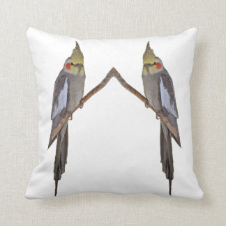 Cute Cockatiel Duo Pillow (choose colour)