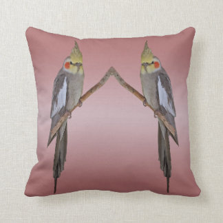 Cute Cockatiel Duo Pillow (Pink Mix)