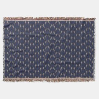 Cute Cockatiel Frenzy Throw Blanket (Navy)