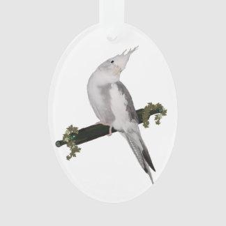 Cute Cockatiel on Ivy Perch Ornament