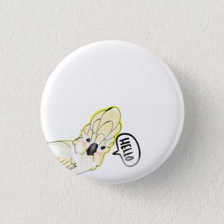 cute cockatoo bird 1 inch round button