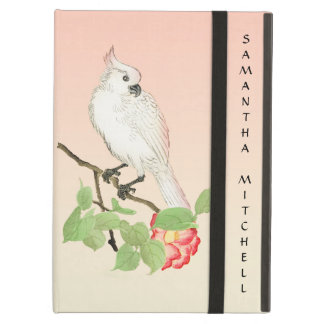 Cute Cockatoo Vintage Camellia Flower iPad Case