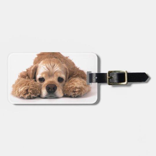 Cute Cocker Spaniel Bag Tag