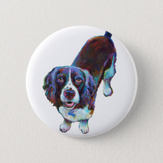 Cute Cocker Spaniel by Robert Phelps 2 Inch Round Button