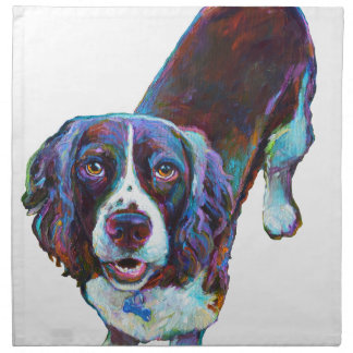 Cute Cocker Spaniel by Robert Phelps Napkin