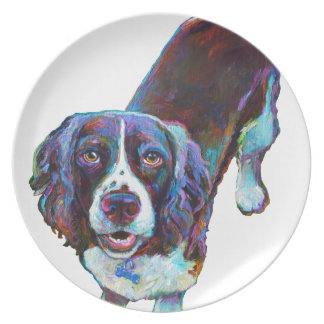 Cute Cocker Spaniel by Robert Phelps Plate