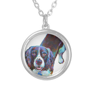Cute Cocker Spaniel by Robert Phelps Silver Plated Necklace
