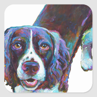 Cute Cocker Spaniel by Robert Phelps Square Sticker