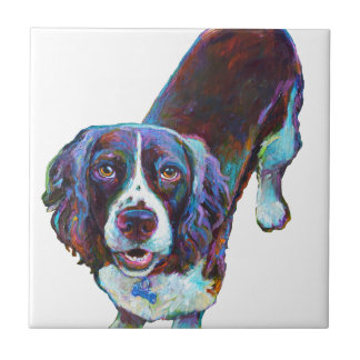 Cute Cocker Spaniel by Robert Phelps Tile