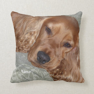 Cute Cocker Spaniel Gifts personalized Throw Pillow