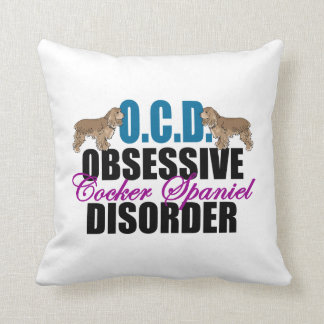 Cute Cocker Spaniel Throw Pillow