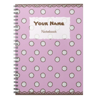 Cute Coconut Pattern Notebook