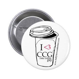 Cute Coffe Guy Button