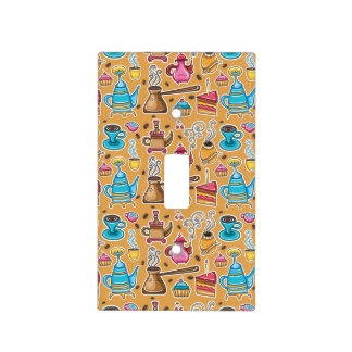Cute Coffee and Cakes Design Light Switch Cover