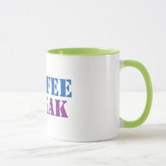 cute coffee break funny mug  hipster gift idea