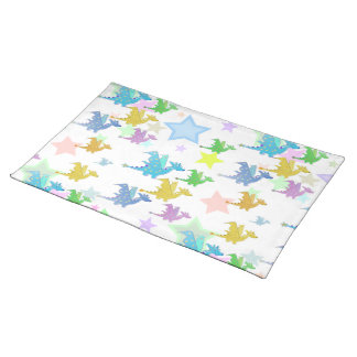Cute Color Dragons Pattern Placemat