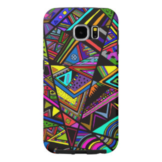 Cute colorful abstract drawing patterns design samsung galaxy s6 cases