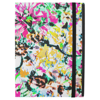 "Cute colorful abstract floral iPad pro 12.9"" case"
