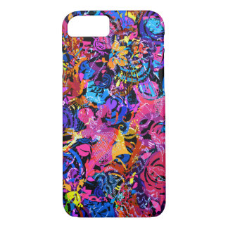 Cute colorful abstract floral patterns iPhone 7 case