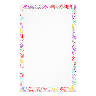 Cute colorful abstract hearts stationery