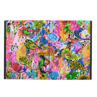 Cute colorful abstract mixed paisley flowers