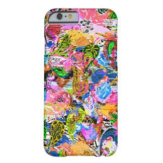 Cute colorful abstract mixed paisley flowers barely there iPhone 6 case