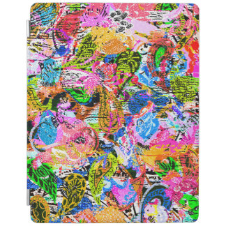 Cute colorful abstract mixed paisley flowers iPad cover