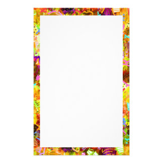 Cute colorful abstract paint stationery