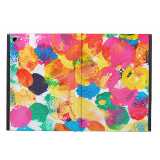 Cute colorful abstract painting iPad air covers