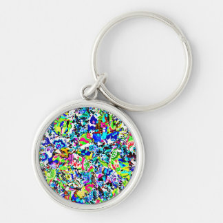 Cute colorful abstract painting keychain